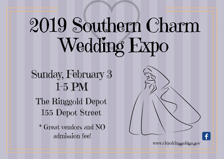 Southern Charm Wedding Expo February 3 1-5 PM at The Ringgold Depot 155 Depot Street